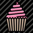 birthday, cupcake, dessert, food, sweet