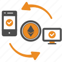 approval, authorization, bill, ethereum, money, transfer icon