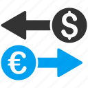 banking, business, exchange, finance, money transactions, payment, sync arrows icon