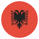 albania, albanian, country, european, flag, national icon
