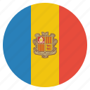 andorra, country, european, flag, national icon