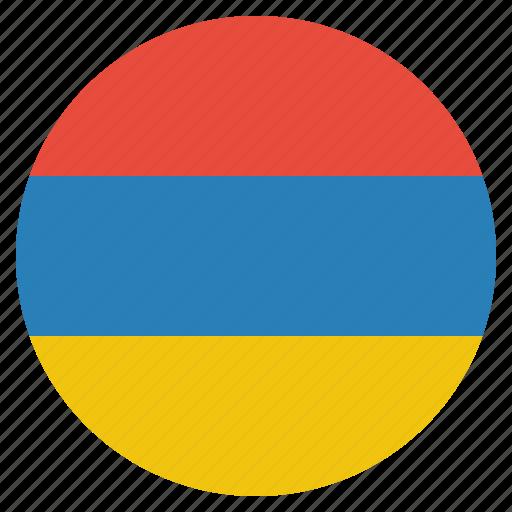 armenia, armenian, country, european, flag, national icon