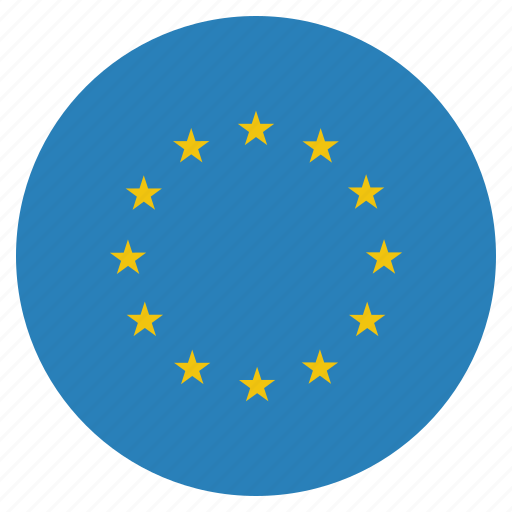 circle, eu, europe, european, flag, union icon