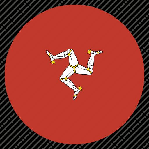european, flag, isle, man, of icon