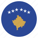 country, european, flag, kosovo, national icon