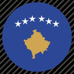 country, european, flag, kosovo, national icon