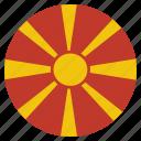 country, european, flag, macedonia, macedonian, national icon