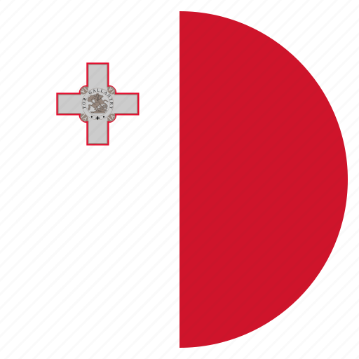 country, european, flag, malta, national icon