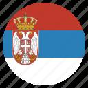 country, flag, national, serbia, serbian, european icon