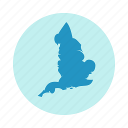 country, england, europe, map icon