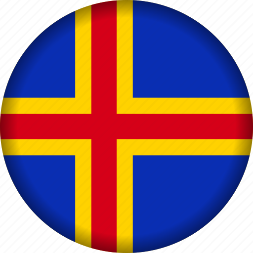 aland, europe, flag icon