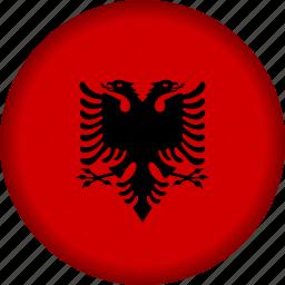 albania, europe, flag icon