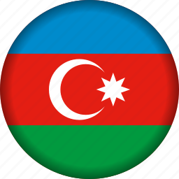 azerbaijan, europe, flag icon