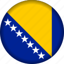 bosnia, europe, flag icon