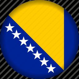 bosnia, europe, flag icon