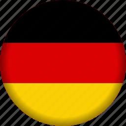 europe, flag, germany icon