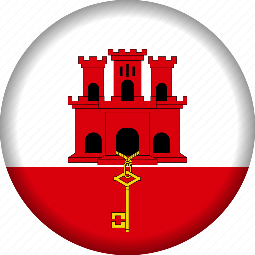 europe, flag, gibraltar icon