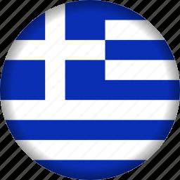 europe, flag, greece icon