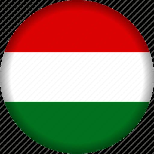 europe, flag, hungary icon