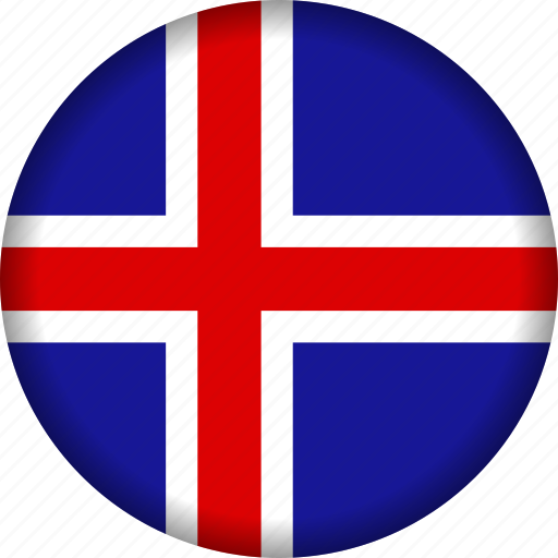 europe, flag, iceland icon