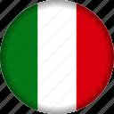 europe, flag, italy icon