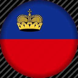 europe, flag, liechtenstein icon