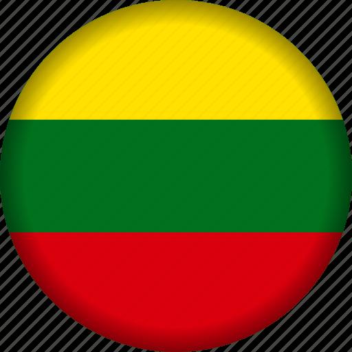 Europe, flag, lithuania icon