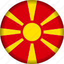 europe, flag, macedonia icon