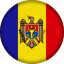 europe, flag, moldova icon