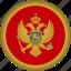 europe, flag, montenegro icon