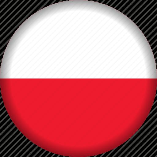 europe, flag, poland icon
