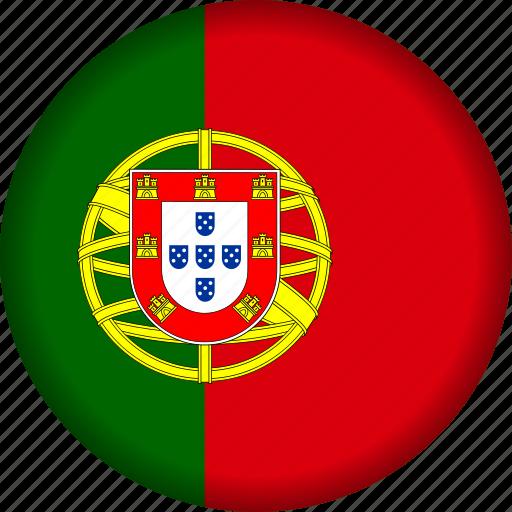 europe, flag, portugal icon