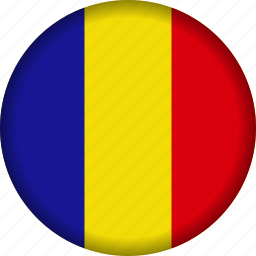 europe, flag, romania icon
