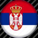 europe, flag, serbia icon