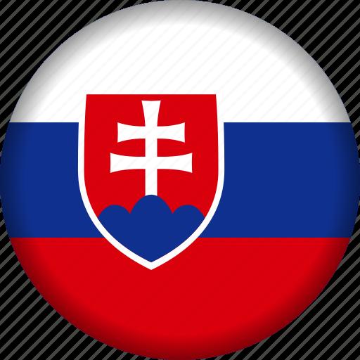 europe, flag, slovakia icon