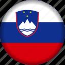 europe, flag, slovenia icon