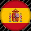 europe, flag, spain icon