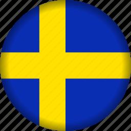 europe, flag, sweden icon