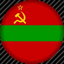 europe, flag, transnistria icon