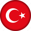europe, flag, turkey icon