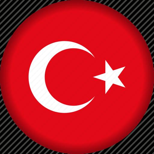 europe, flag, turkey icon