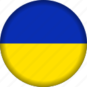 europe, flag, ukraine icon
