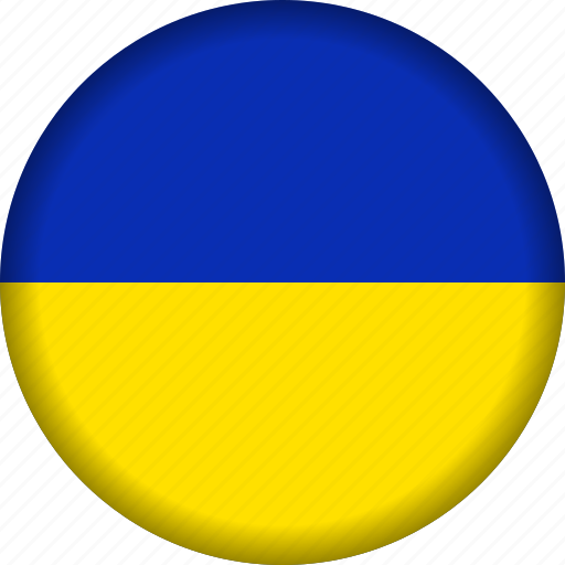 europe, flag, ukraine icon