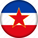europe, flag, yugoslavia icon