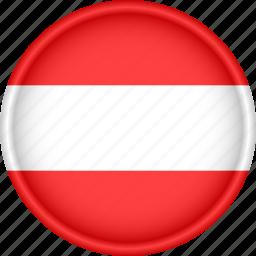 attribute, austria, country, europe, european, flag, national icon