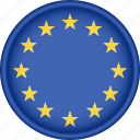 attribute, country, eu, europe, european, flag, national icon