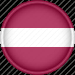 attribute, country, europe, european, flag, latvia, national icon