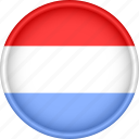 attribute, country, europe, european, flag, luxembourg, national