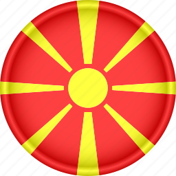 attribute, country, europe, european, flag, macedonia, national icon