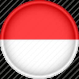 attribute, country, europe, european, flag, monaco, national icon